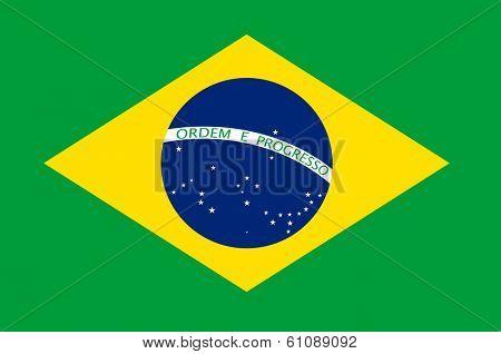 Brasil flag vector illustration