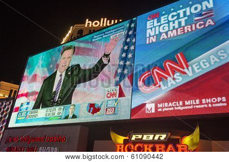 Election Night In Las Vegas