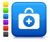 First Aid Icon on Square Internet Button Collection poster