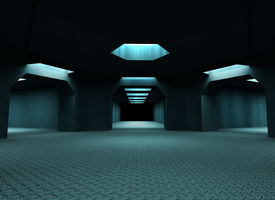Space ship interior