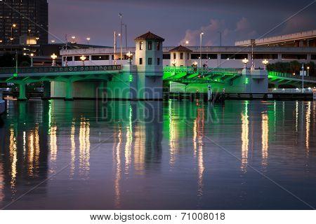 Green Lights on Platt Bridge