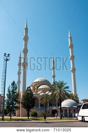 The Mosque In The Town Of Manavgat. Turkey.
