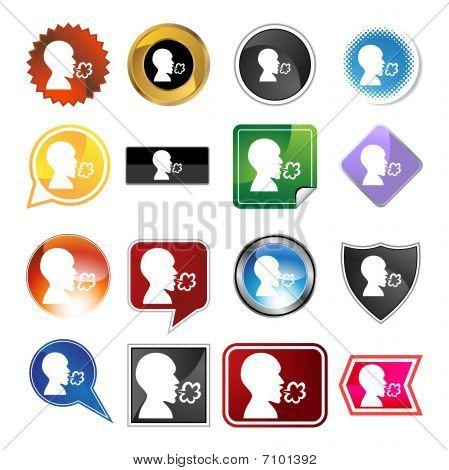 Krankheit Vielzahl Icon-set