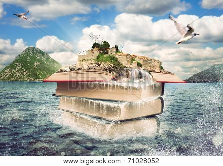Books with a nice island on the top