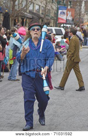 Juggler In The Mardi Gras Parade