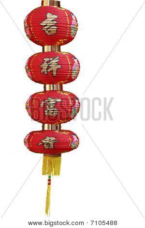 Isolated Chinese Lantern