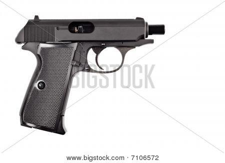 Loaded Black Vintage Police Pistol