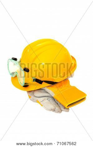 Worker Hat And Gloves