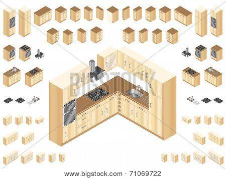 Wooden Kitchen Elements