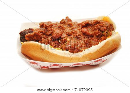 Take-out Chili Dog