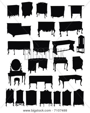 Antique Furniture Silhouettes