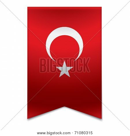 Ribbon Banner - Turkish Flag