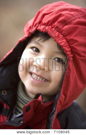 Big smile from a little boy.