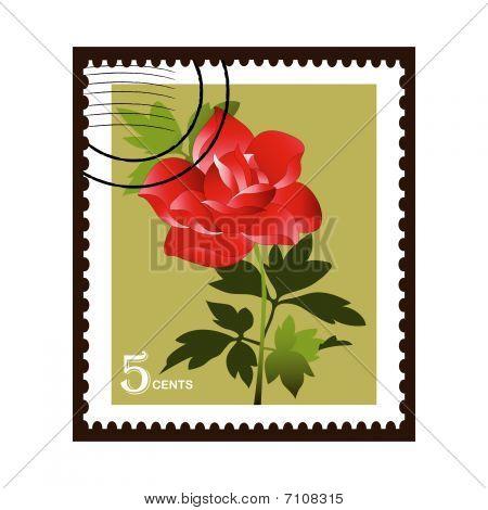 Stamp Rose