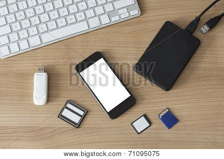 Electronic Devices On A Desk