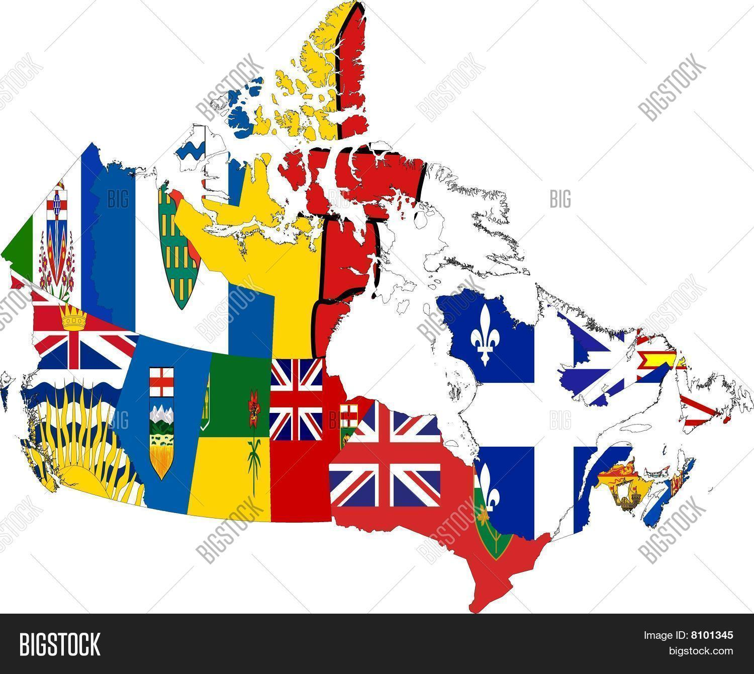 Canada Map Provinces Image Photo Free Trial Bigstock
