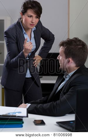 Chief Bullying His Assistant