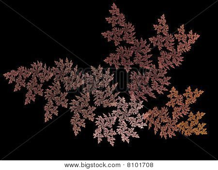 Abstract Fractal Design Of Autumn Leaves