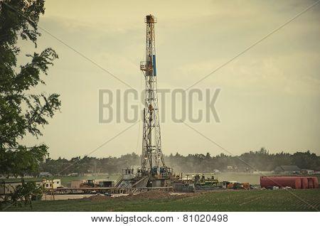Drilling Rig In Central Colorado, Usa