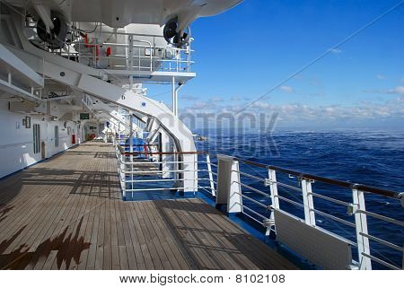 stock pictures of the deck on a cruise ship poster
