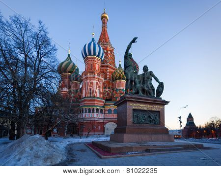 Saint Basil's Cathedral In The Winter, Moscow, Russia
