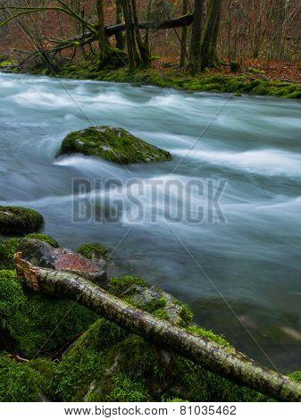 View on river Dobra, Zeleni vir