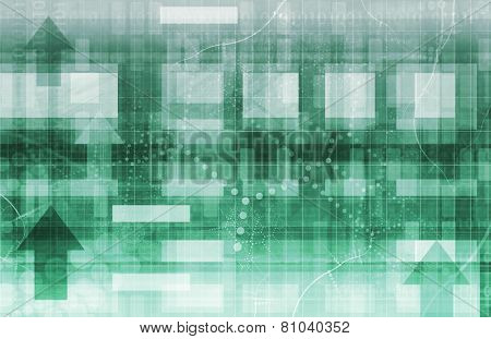 Technology Background Design with Moving Data Concept