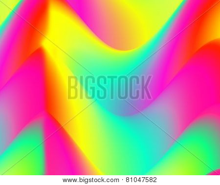 Abstract background, colorful waves