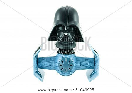Darth Vader Bobble Head Tie Fighter Character Toy From Star War The Clone Wars.