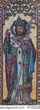 ZAGREB, CROATIA - OCTOBER 18, 2013: Saint Methodius, Greek Catholic Church of Saints Cyril and Methodius in Cirilometodska street of historic Upper Town in Zagreb, Croatia. Architect Hermann Bolle