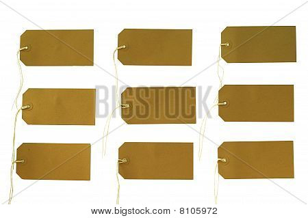 Tags, Isolated on White
