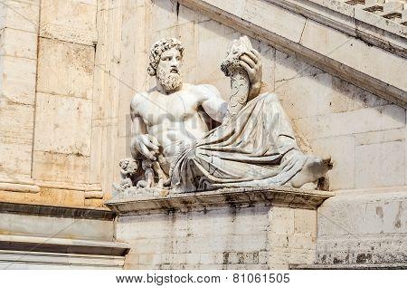 Allegoric Statue Of Tiber River, Rome