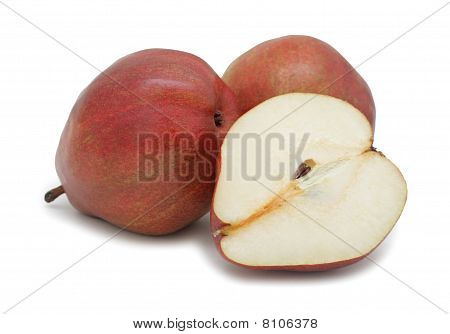 Red Pears, Isolated