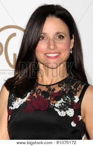 LOS ANGELES - JAN 24:  Julia Louis-Dreyfus at the Producers Guild of America Awards 2015 at a Century Plaza Hotel on January 24, 2015 in Century City, CA