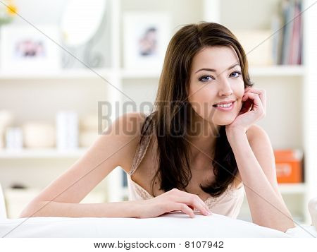 Beautiful Woman With Attractive Smile