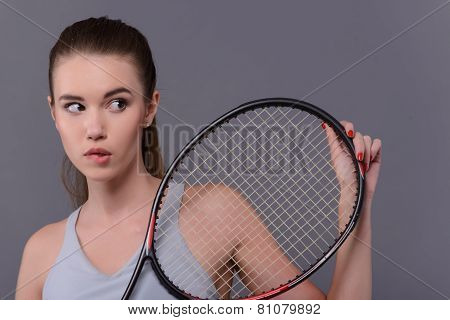 Young and sexy tennis player
