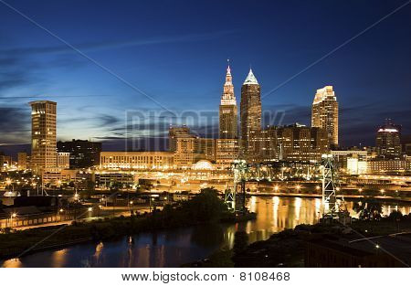 Night In Downtown Cleveland