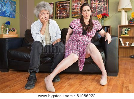 Impatient Pregnant Couple