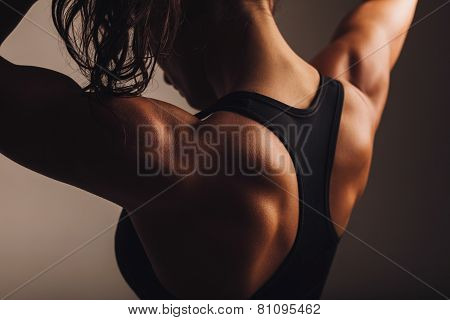 Back Of Female Fitness Model