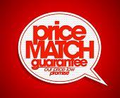 Price match guarantee speech bubble. poster