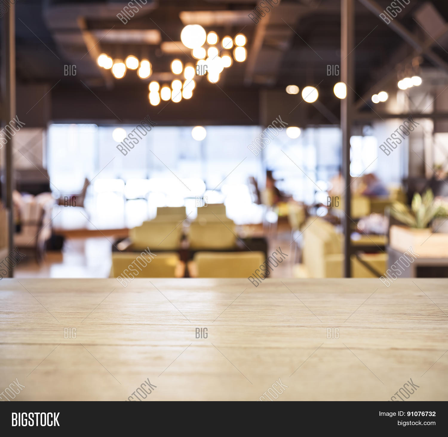 restaurant table top lighting. Table Top Counter Bar With Blurred Cafe Restaurant Background Lighting R