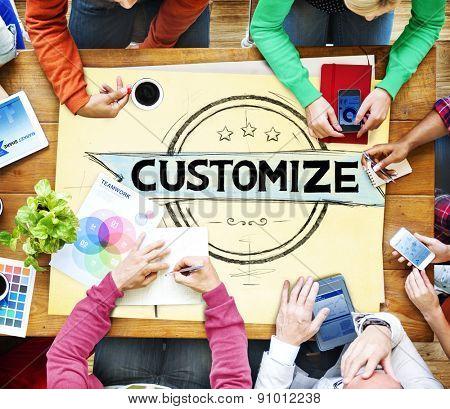 Customize Customization Customizing Change Concept