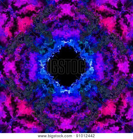 Colorful Electrical Discharge Or Ice In Purple Blue 3D Illusion Made Seamless