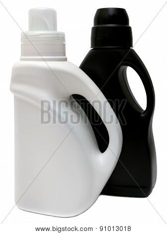 Closed Cosmetic Or Hygiene  Plastic Bottle Of Gel, Liquid Soap, Lotion, Cream, Shampoo. Isolated On White Background. poster