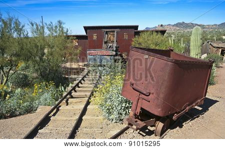 An Old Mine At Goldfield Ghost Town, Arizona