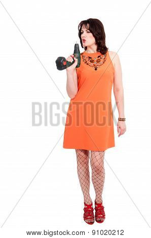 Woman With Screwdriver