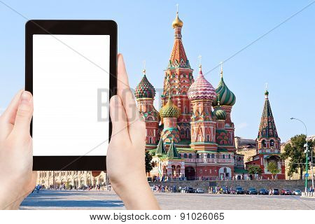Tourist Photographs Of Red Square In Moscow Russia