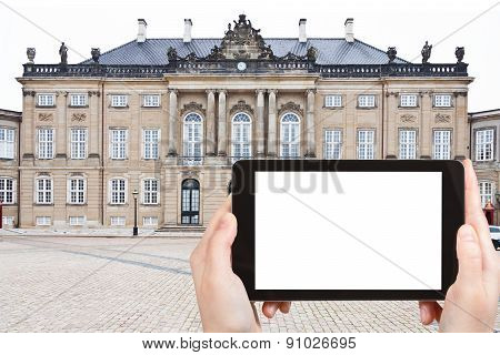 Tourist Photographs Of Palace In Copenhagen