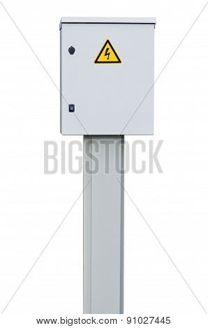 Power Distribution Wiring Switchboard Panel Outdoor Unit Grey New Distributing Board Compartment