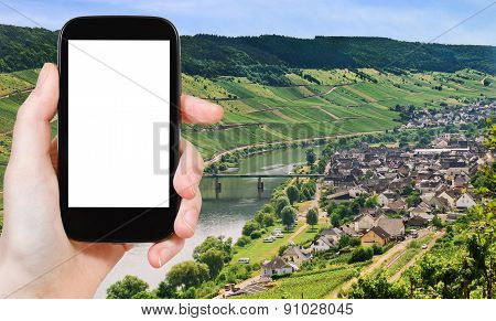 Photograph Town Zell And Moselle River, Germany